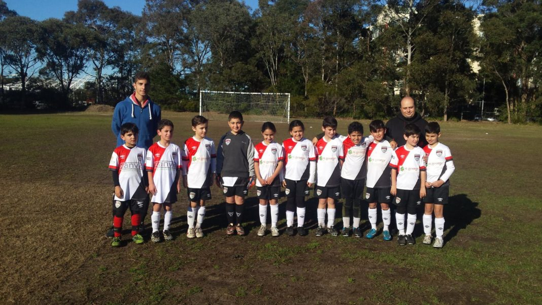 U10s Ararat FC Team Photo