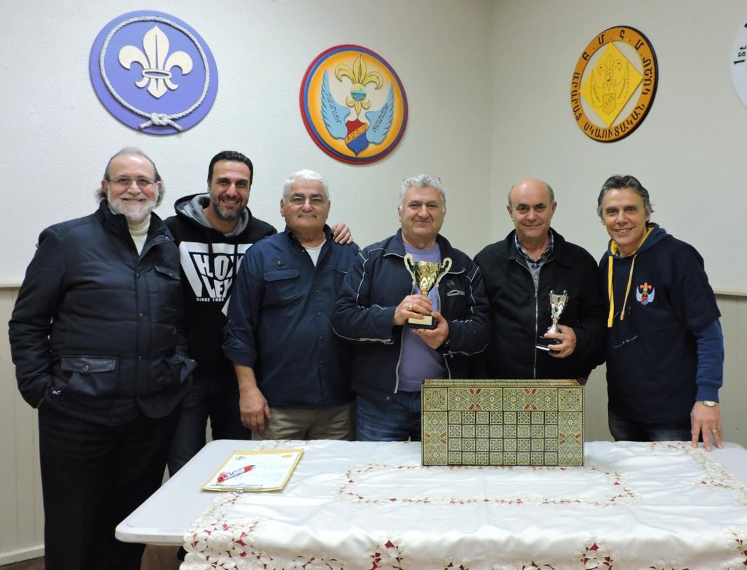 Ararat Scout Group Backgammon Championship 2016