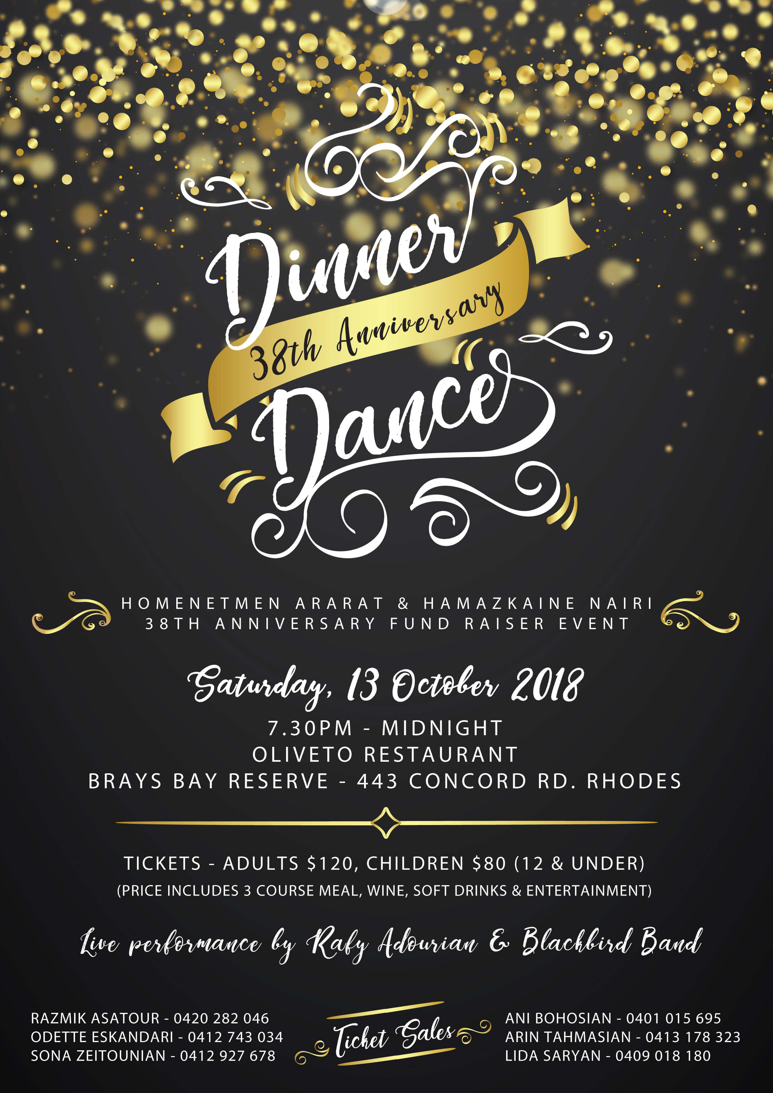 38th Dinner Dance Flyer